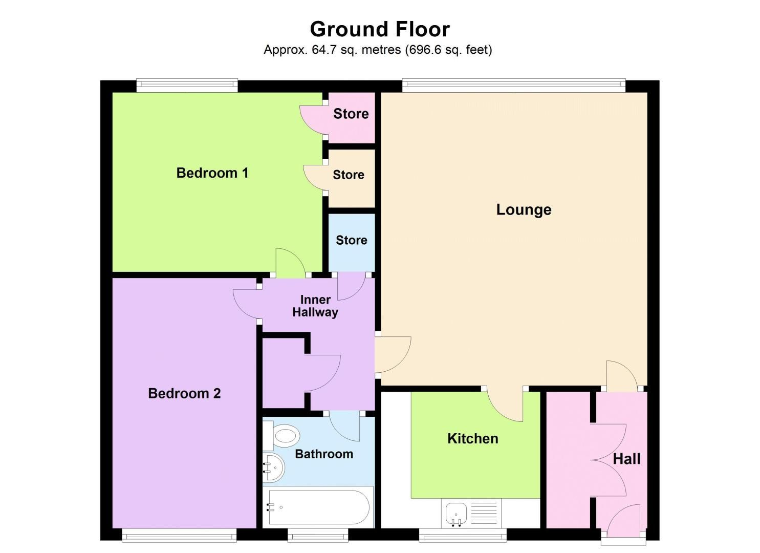 2 bed flat for sale in Hurst Green Road - Property Floorplan