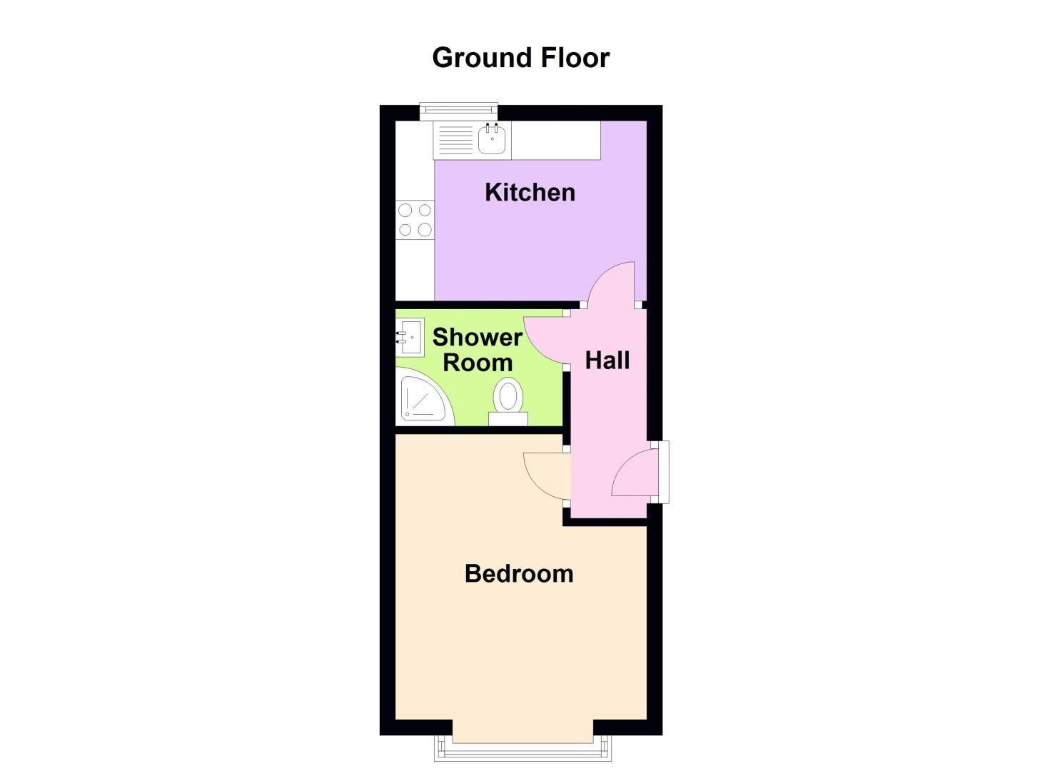 1 bed flat to rent in Three Shires Oak Road - Property Floorplan