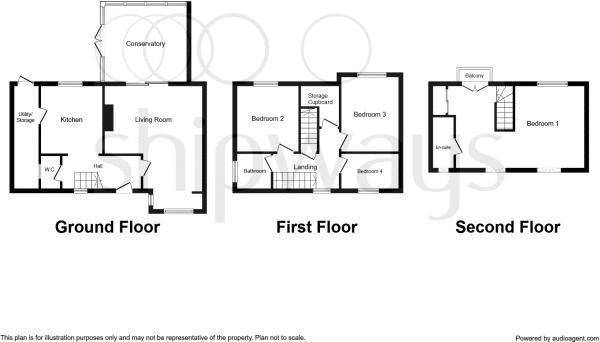 4 bed house to rent in Cornwall Avenue - Property Floorplan