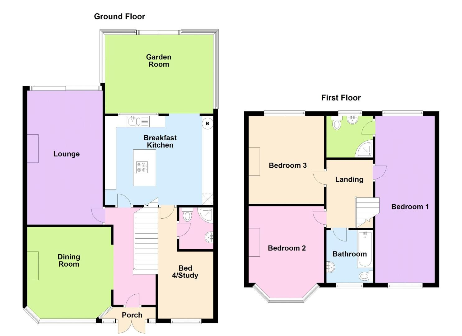 4 bed house for sale in Stoney Lane - Property Floorplan