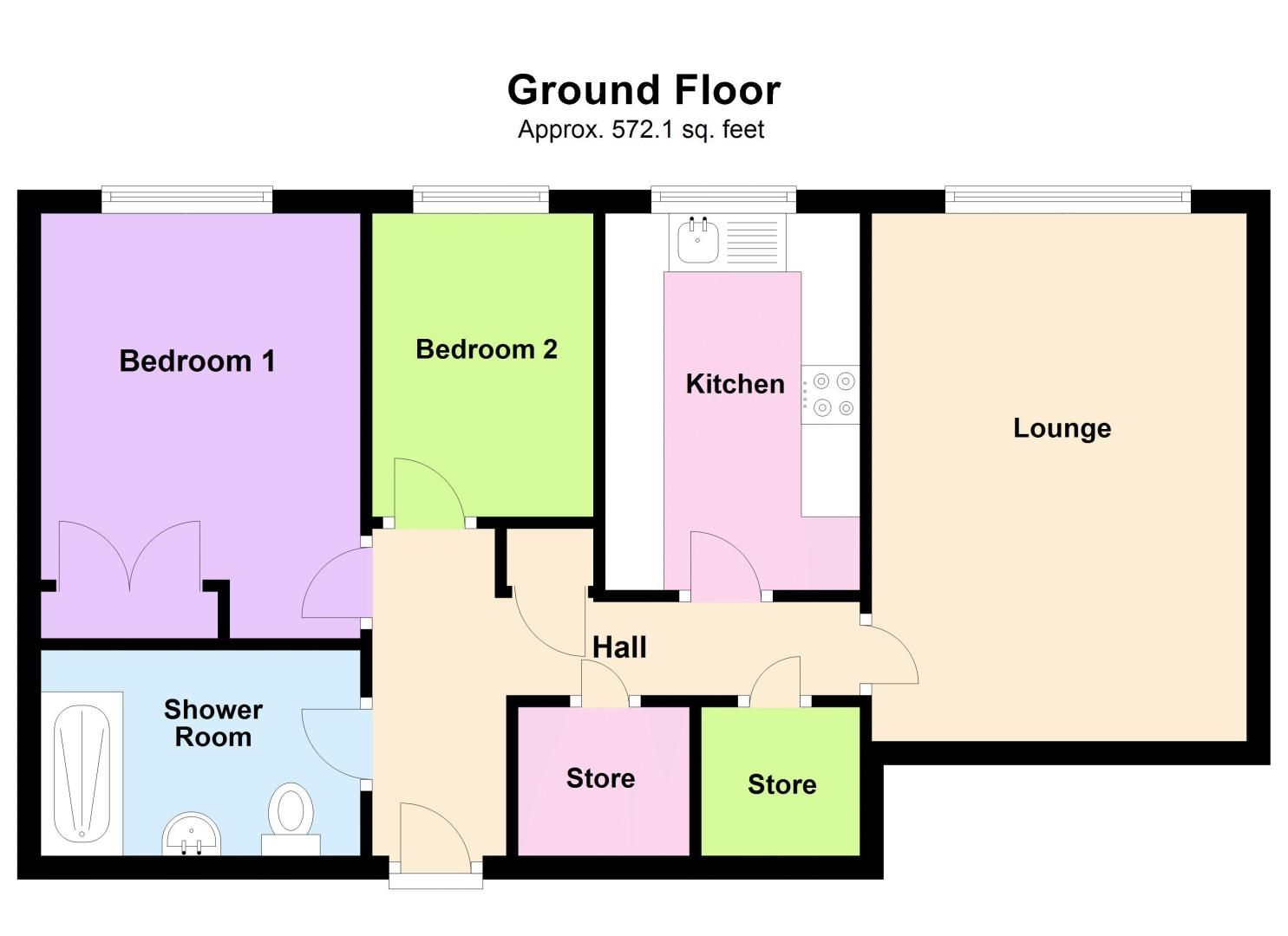 2 bed flat for sale in Hagley Road West - Property Floorplan