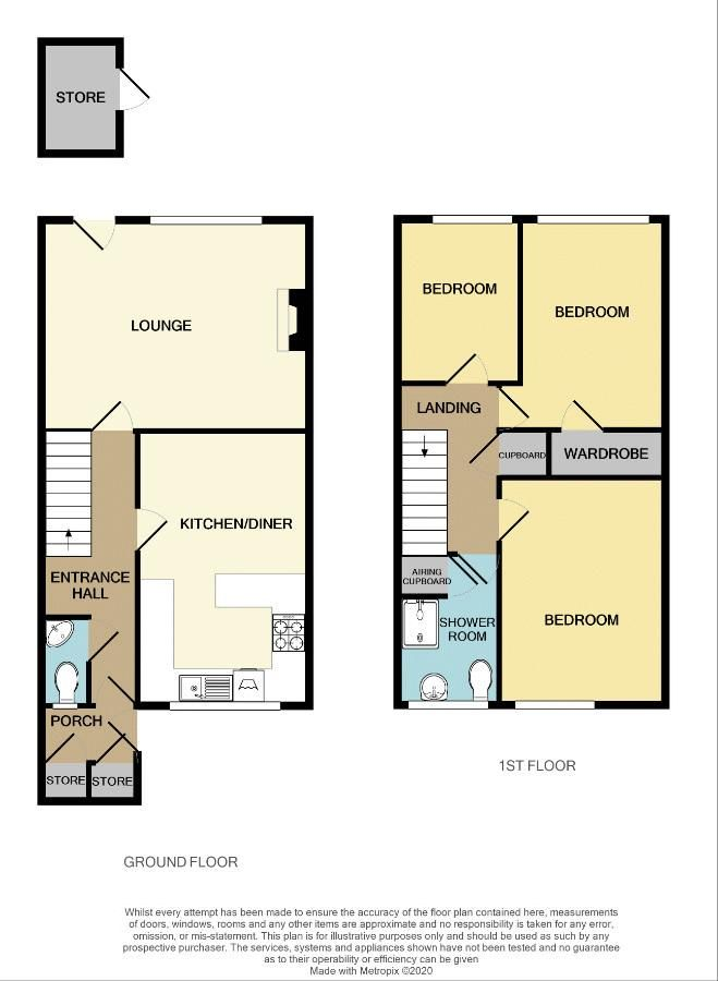 3 bed house for sale in Malpas Drive - Property Floorplan