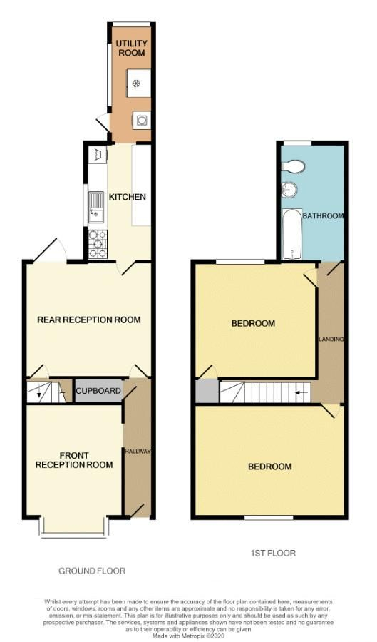 2 bed house for sale in Loxley Road - Property Floorplan