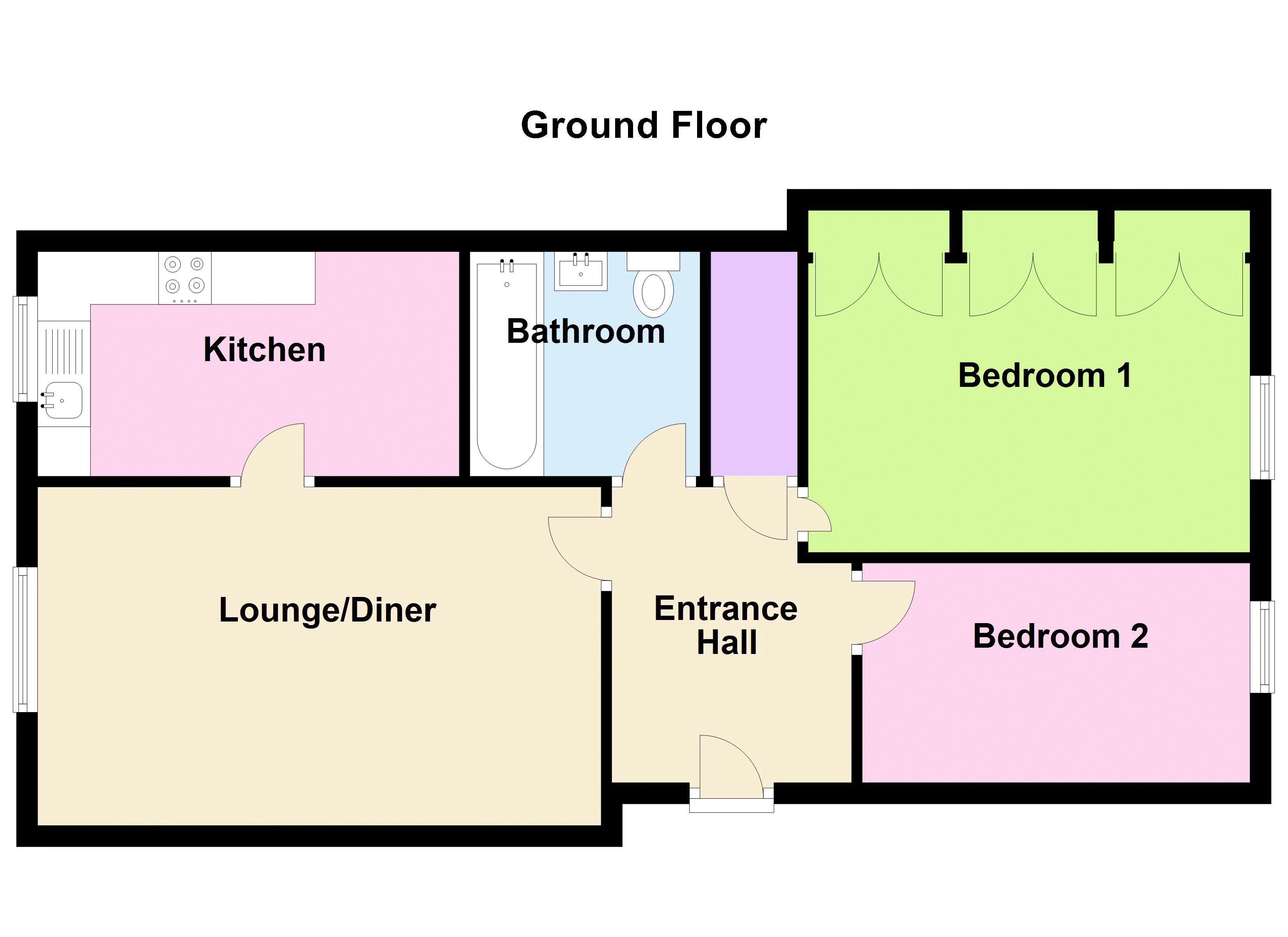 2 bed flat to rent in 291 Hagley Road - Property Floorplan