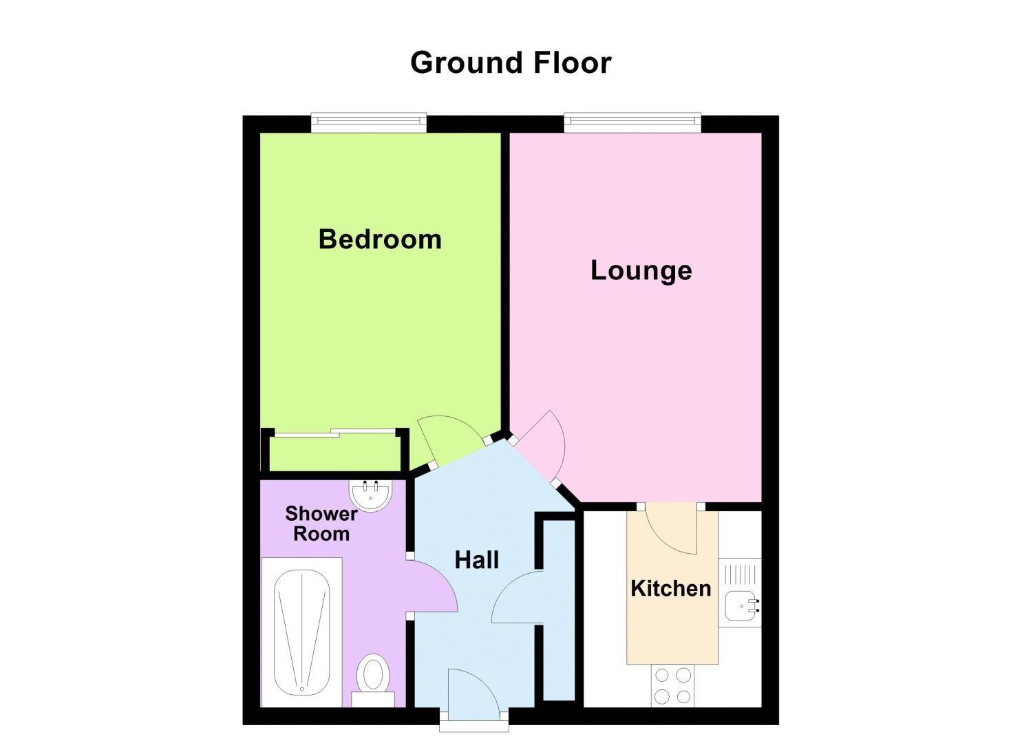 1 bed  for sale in Quinton Lane - Property Floorplan