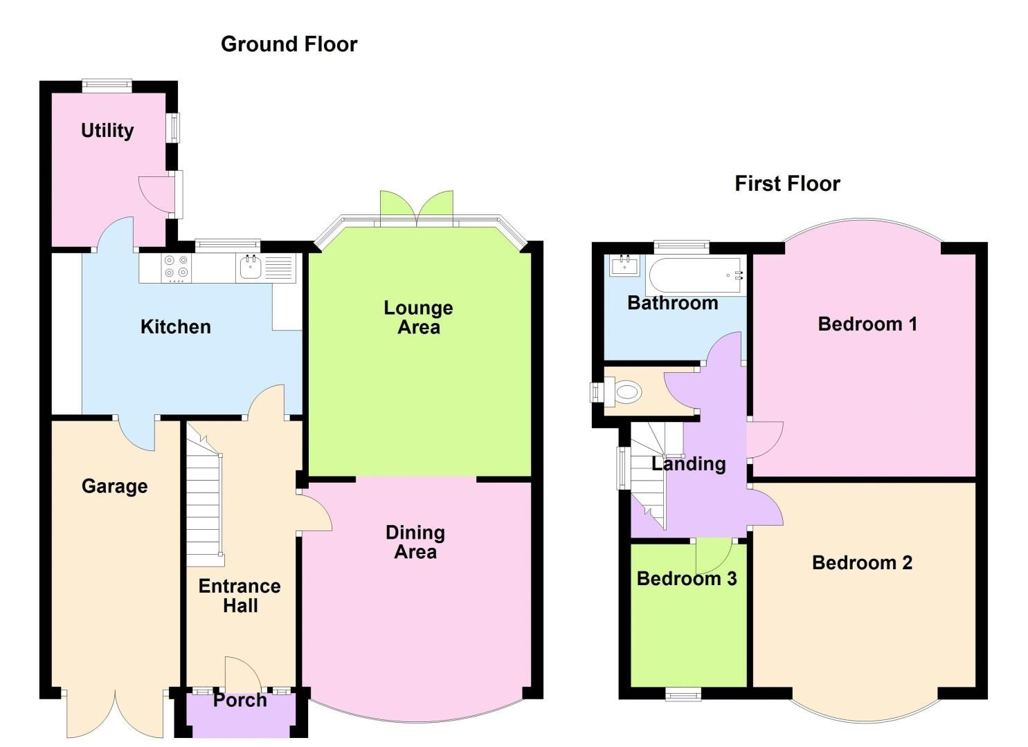 3 bed house to rent in Whitley Court Road - Property Floorplan