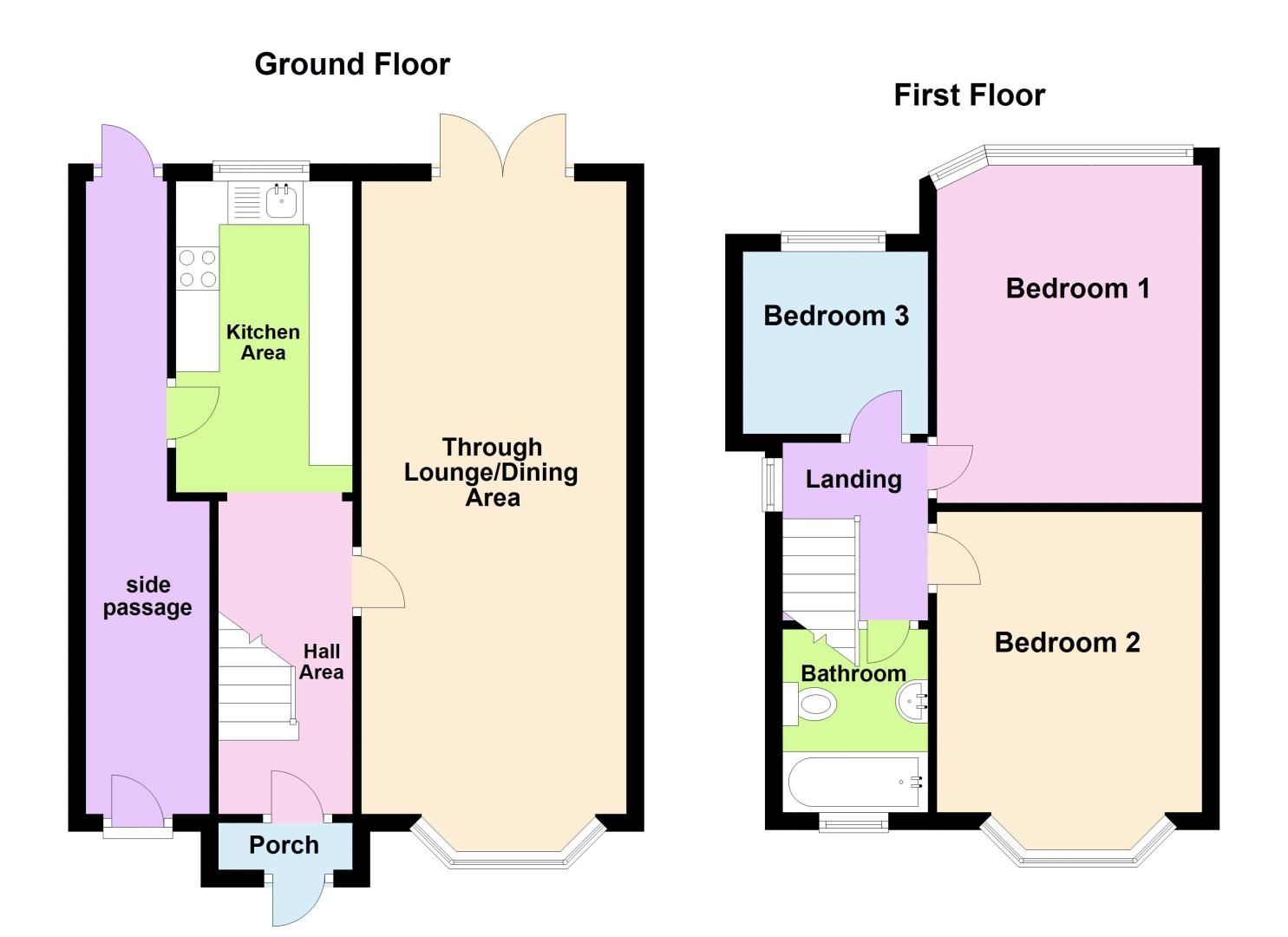 3 bed house for sale in Worlds End Lane - Property Floorplan
