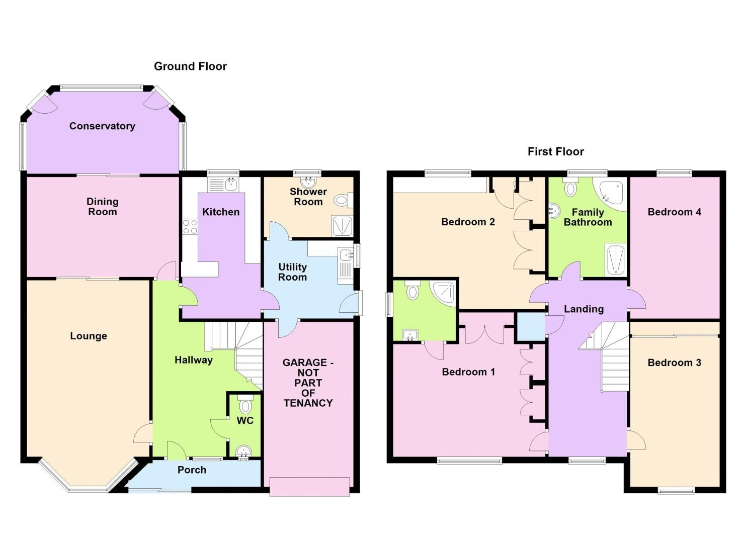 4 bed house to rent in Richmond Hill - Property Floorplan