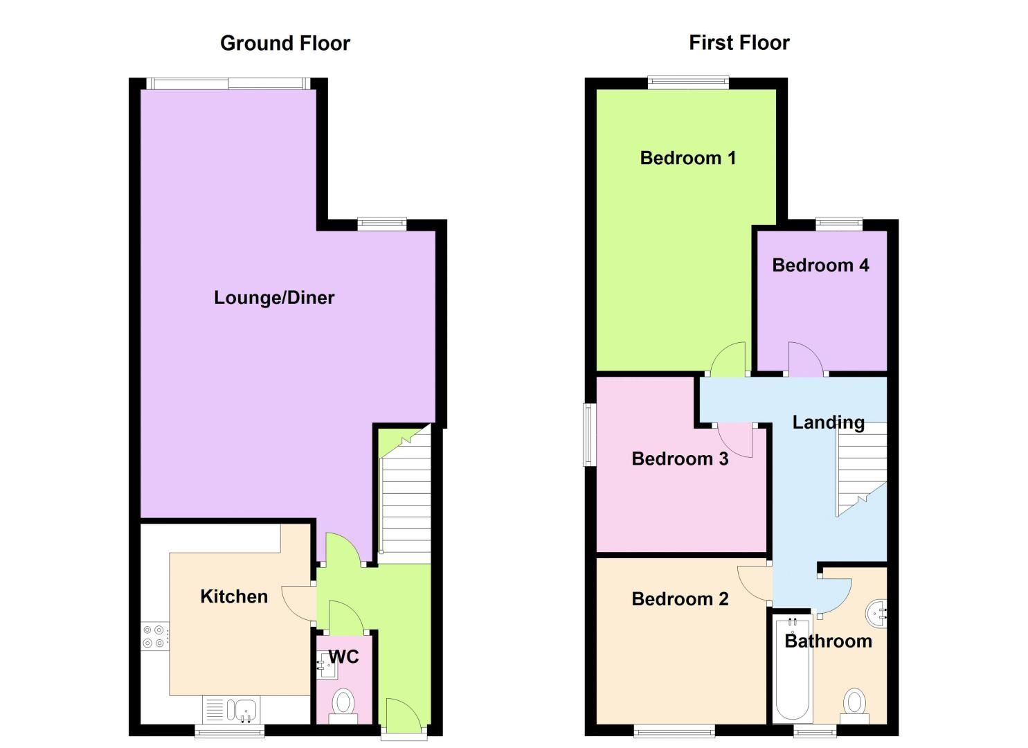 4 bed house to rent in Mincing Lane - Property Floorplan