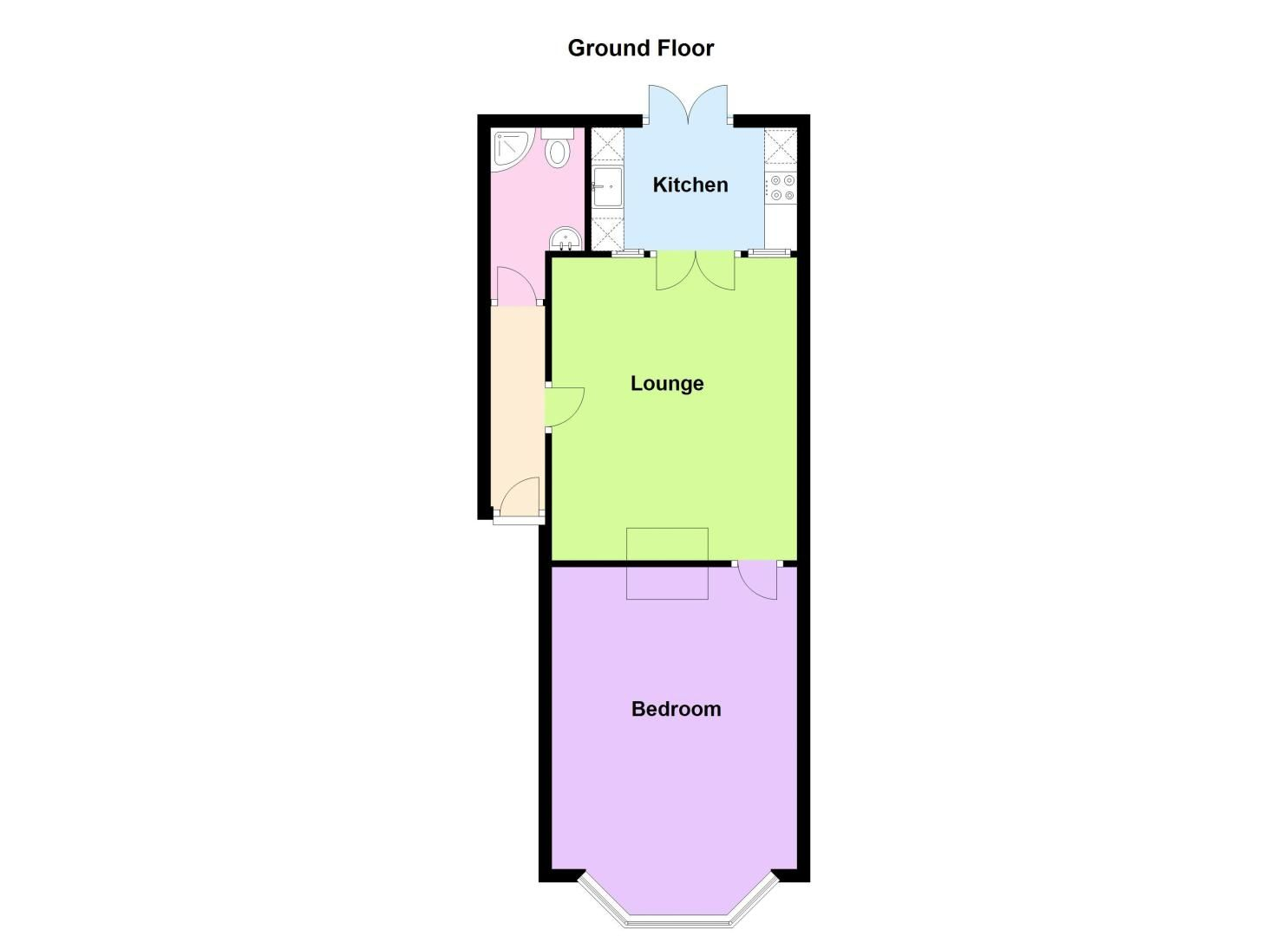 1 bed flat to rent in Stanmore Road - Property Floorplan