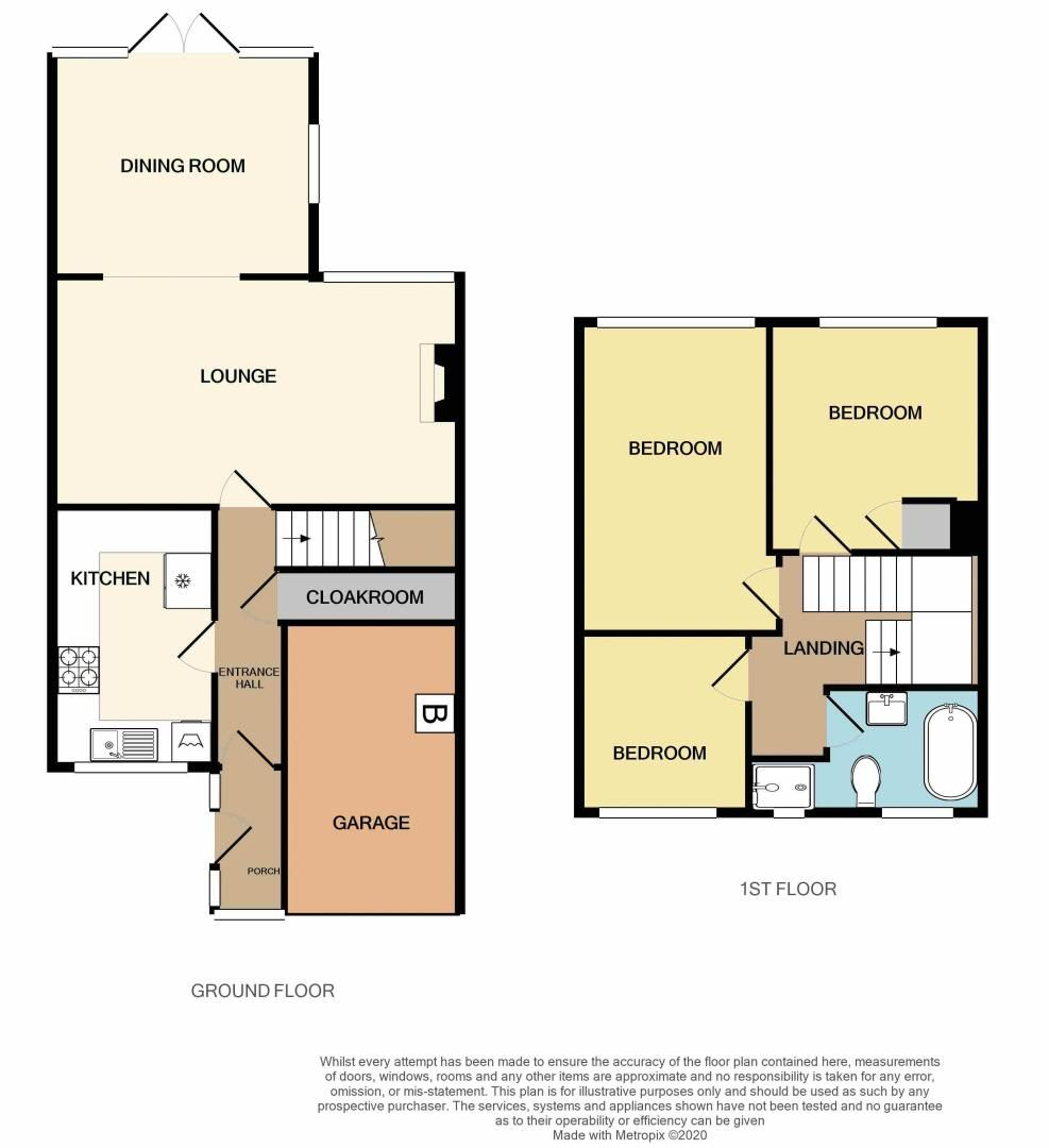3 bed house for sale in Chichester Drive - Property Floorplan