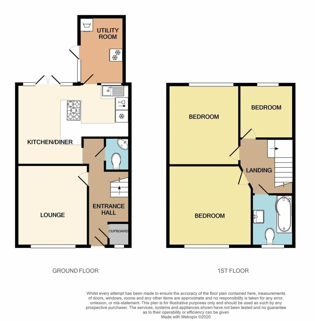 3 bed house for sale in Queens Road - Property Floorplan