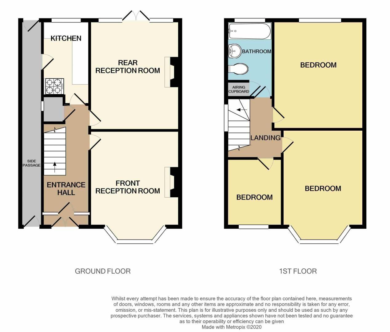 3 bed house for sale in Glyn Farm Road - Property Floorplan