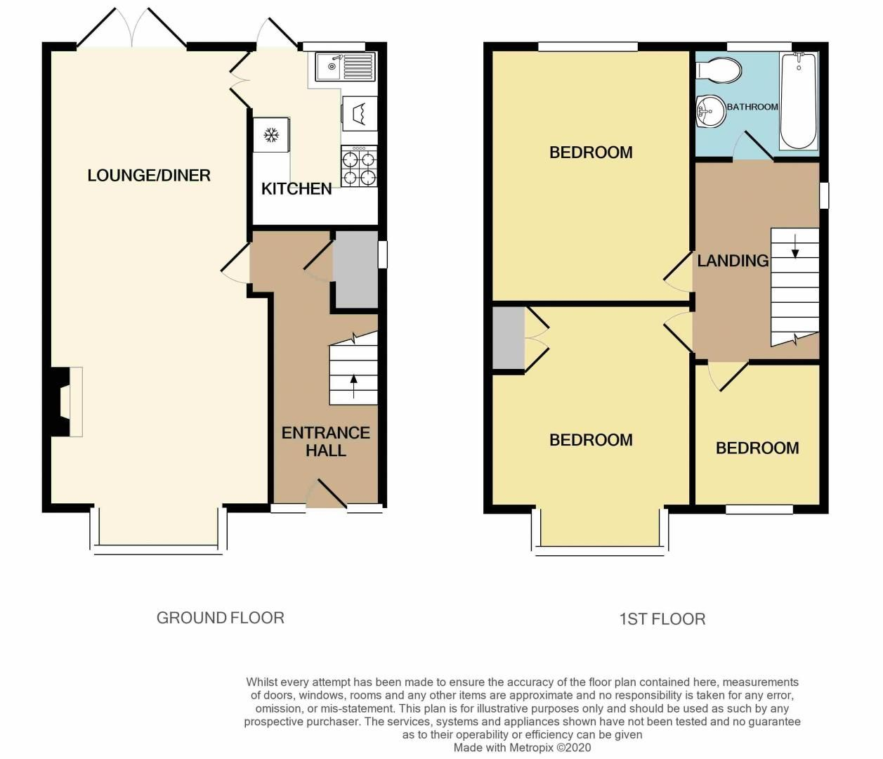 3 bed house for sale in Hamilton Road - Property Floorplan