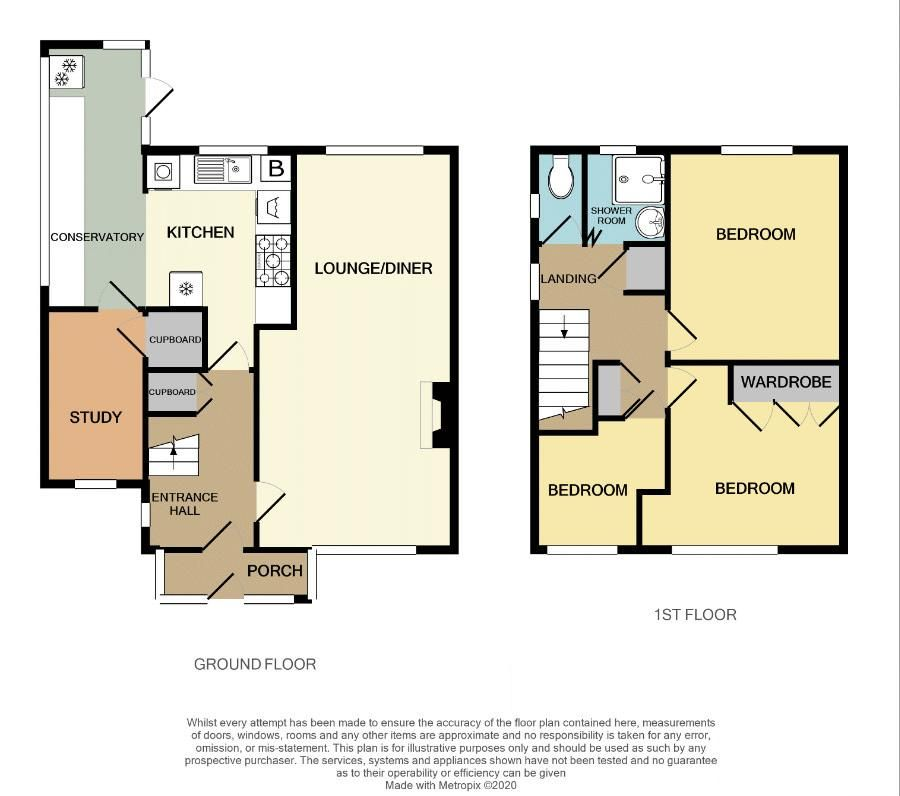 3 bed house for sale in Harvington Road - Property Floorplan