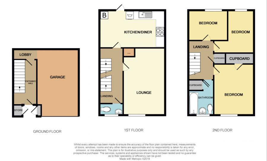 3 bed house to rent in Gorsly Piece - Property Floorplan