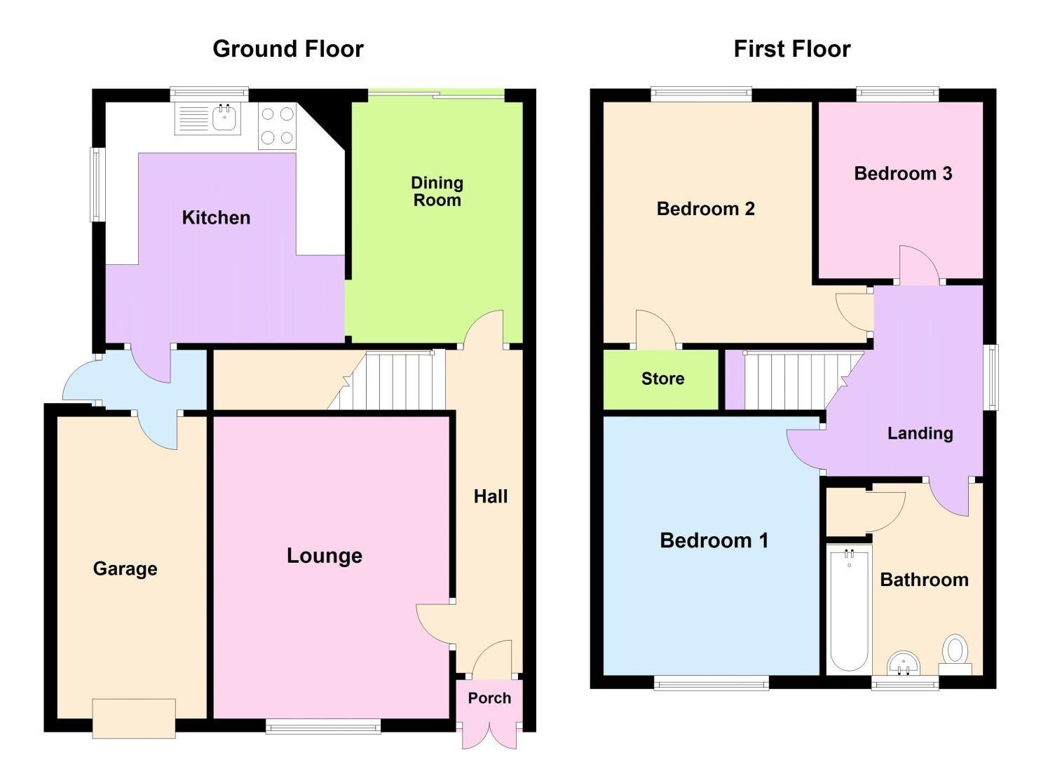 3 bed house for sale in Goodwyn Avenue - Property Floorplan