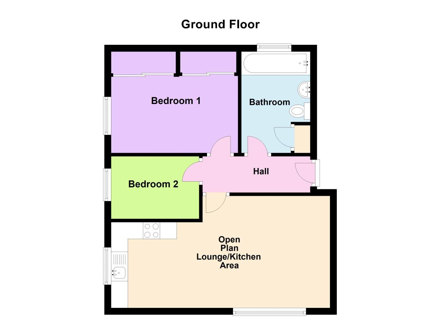 2 bed flat for sale in Perry Hill Road - Property Floorplan
