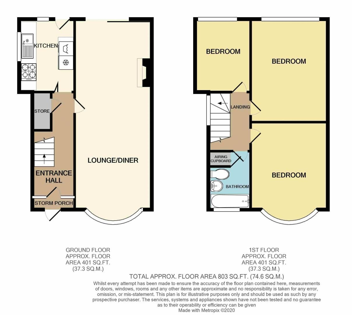 3 bed house for sale in Barnford Crescent - Property Floorplan