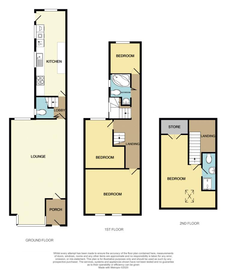 4 bed house for sale in Lightwoods Hill - Property Floorplan