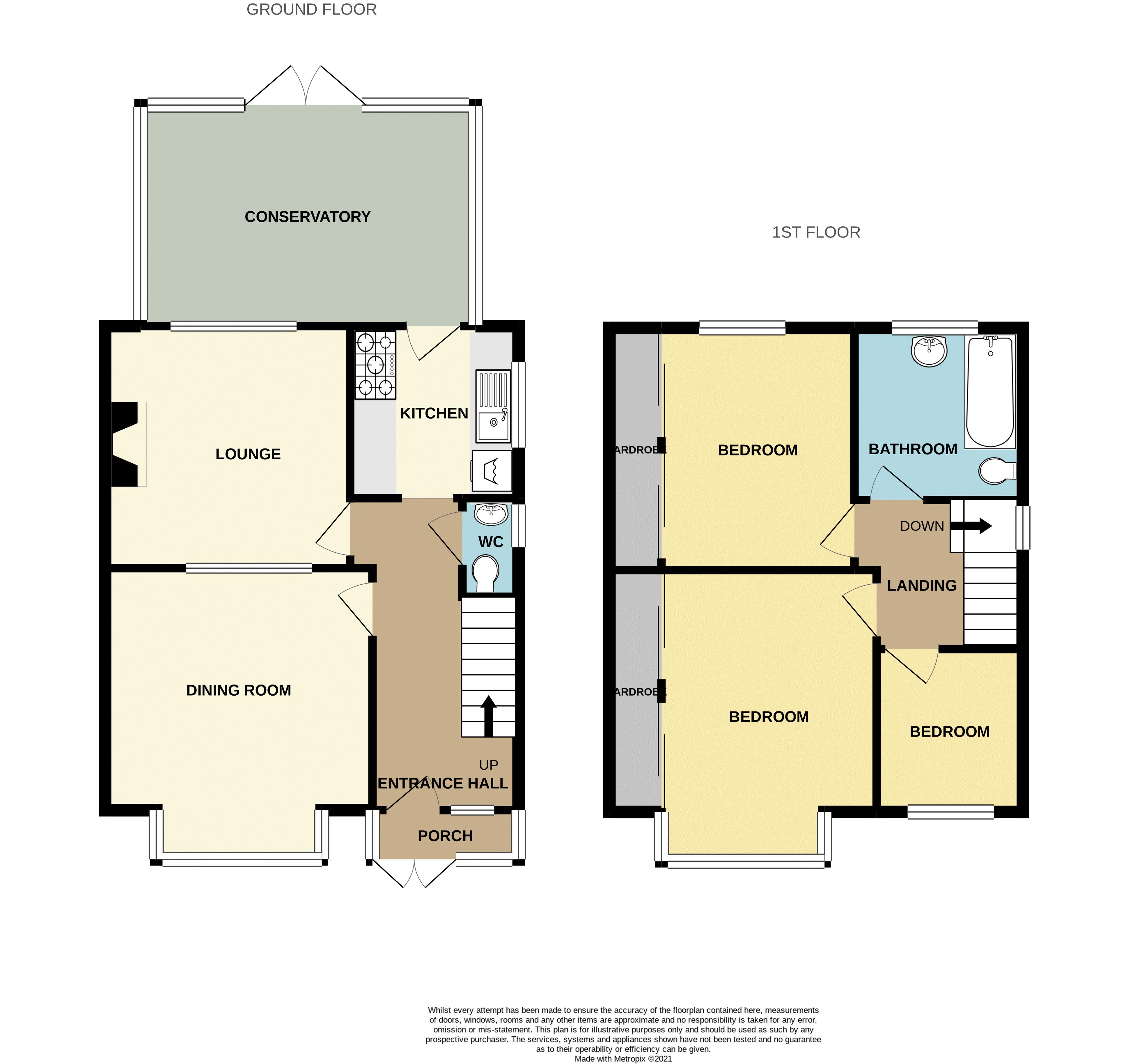 3 bed house for sale in Wolverhampton Road - Property Floorplan