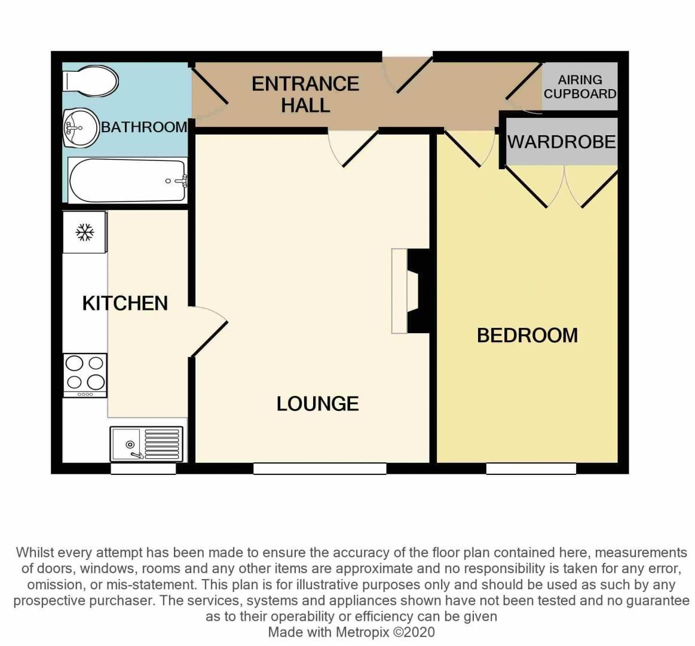 1 bed  for sale in Hagley Road West - Property Floorplan