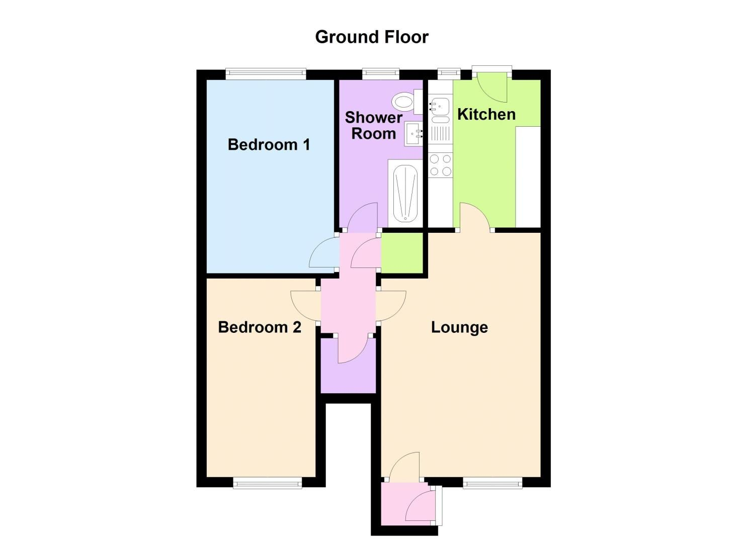 2 bed flat to rent in Oakthorpe Gardens - Property Floorplan
