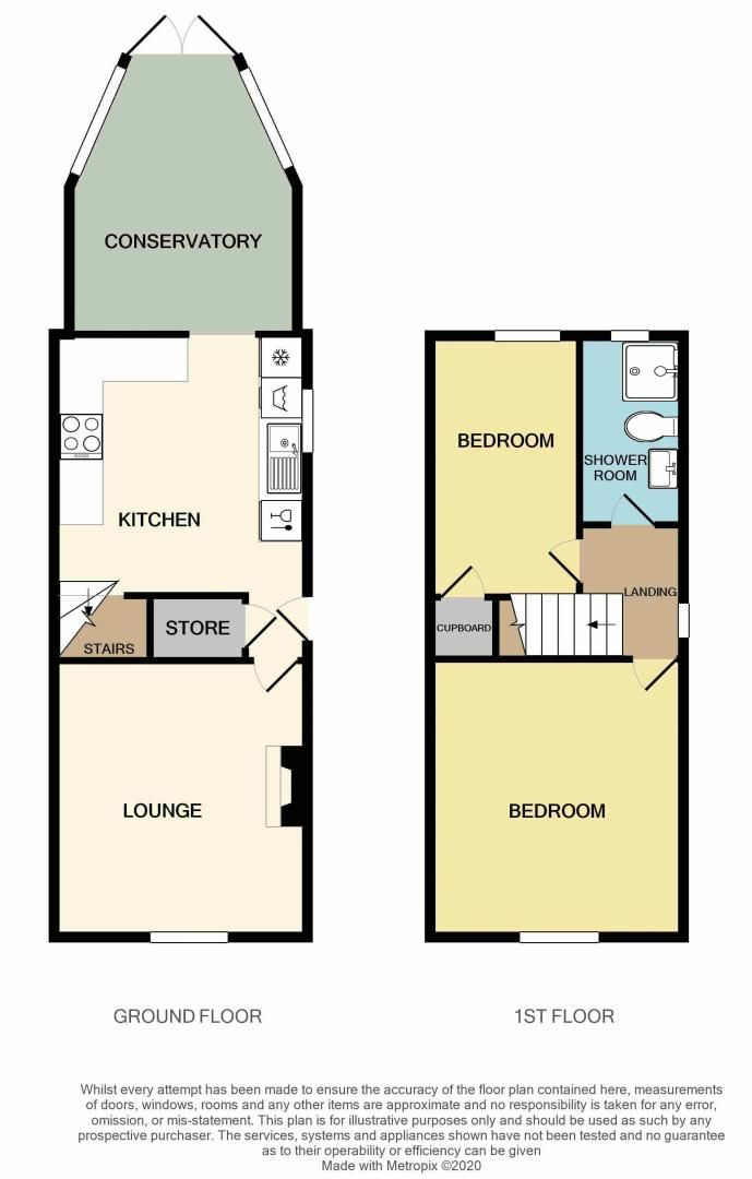 2 bed house for sale in High Street - Property Floorplan