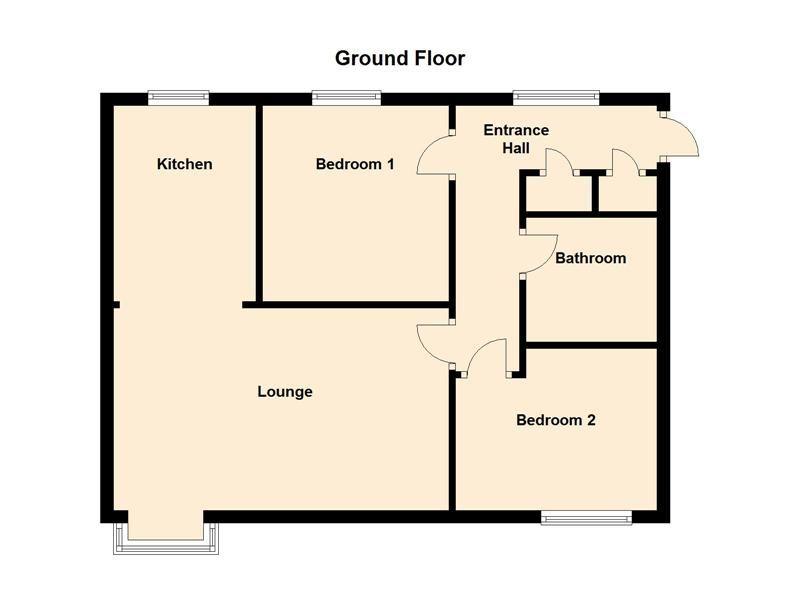 2 bed flat for sale in Moor Street - Property Floorplan