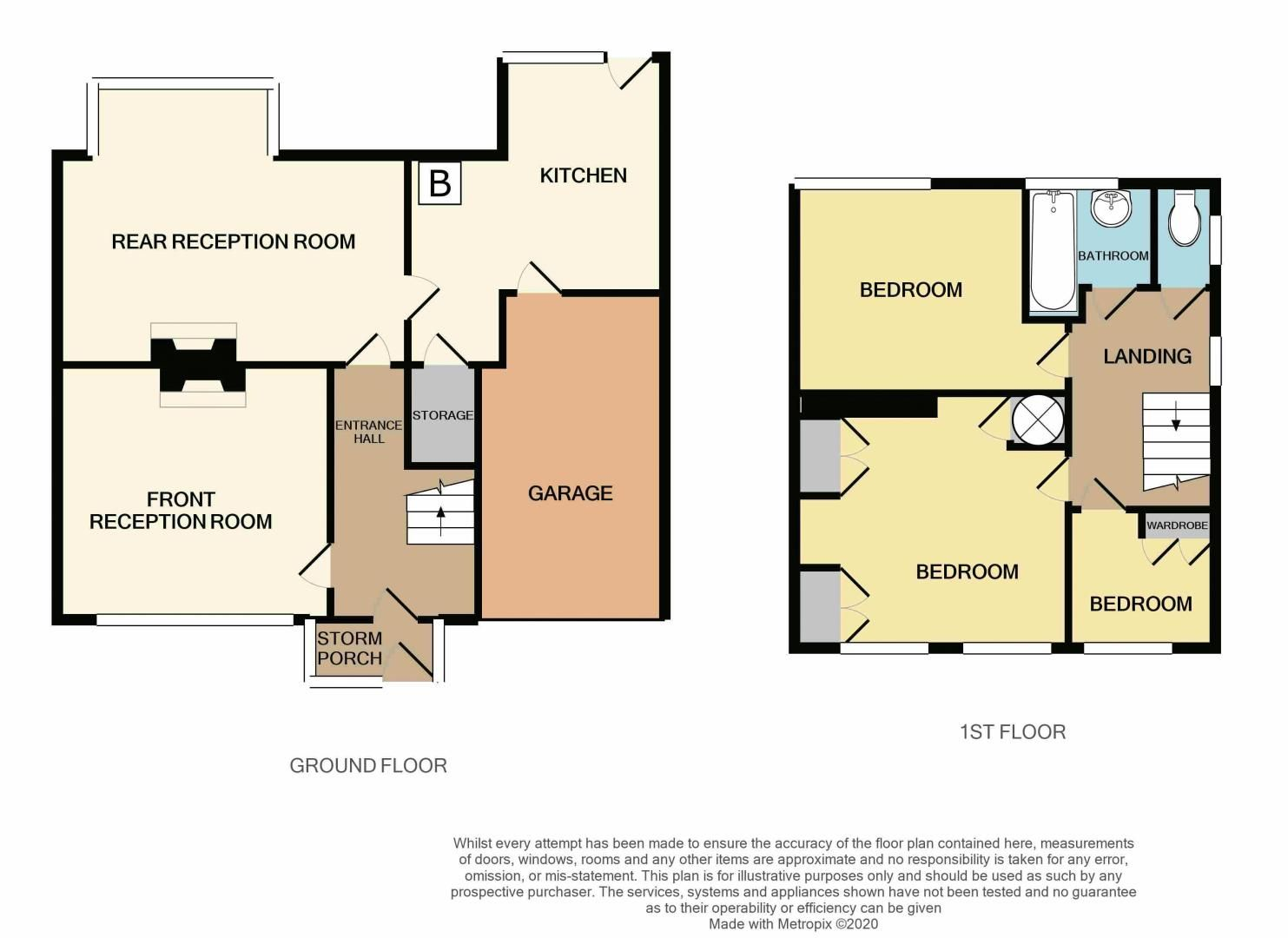 3 bed house for sale in Hillbrow Crescent - Property Floorplan