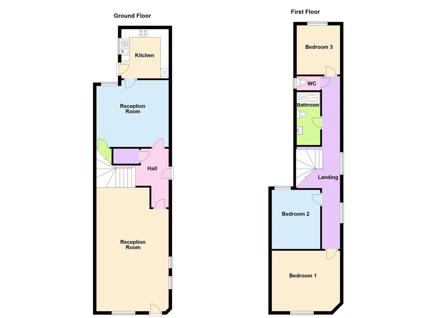 3 bed house for sale in Paignton Road - Property Floorplan