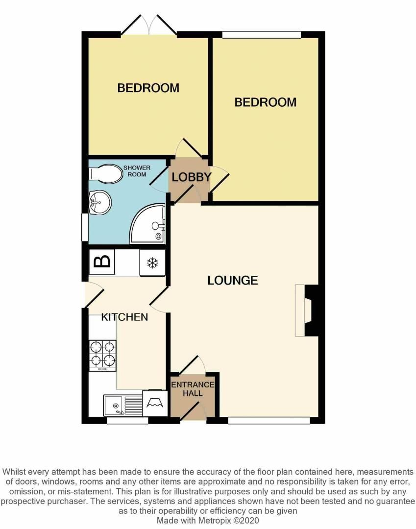 2 bed bungalow for sale in The Constables - Property Floorplan