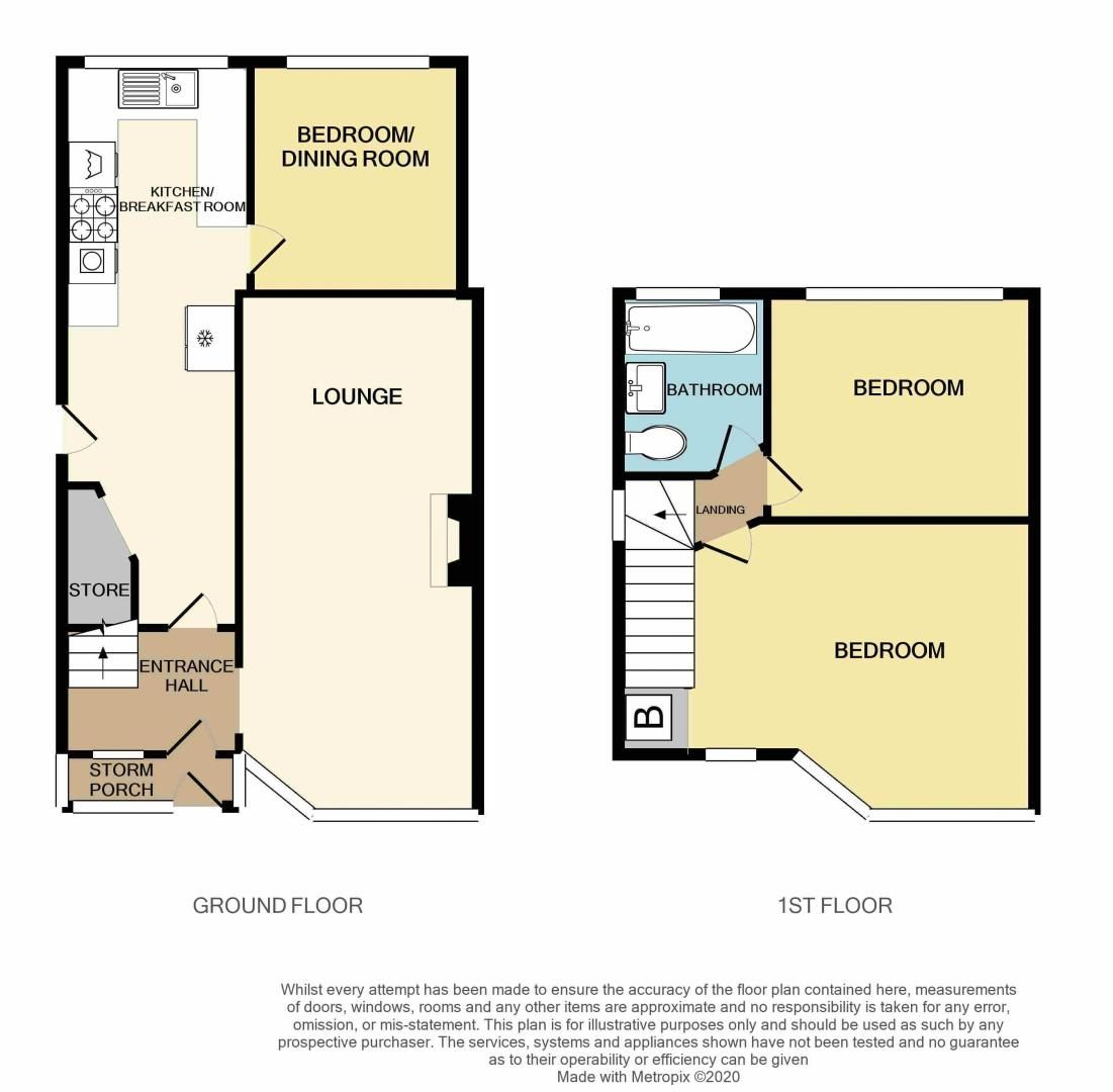 2 bed house for sale in Worlds End Lane - Property Floorplan