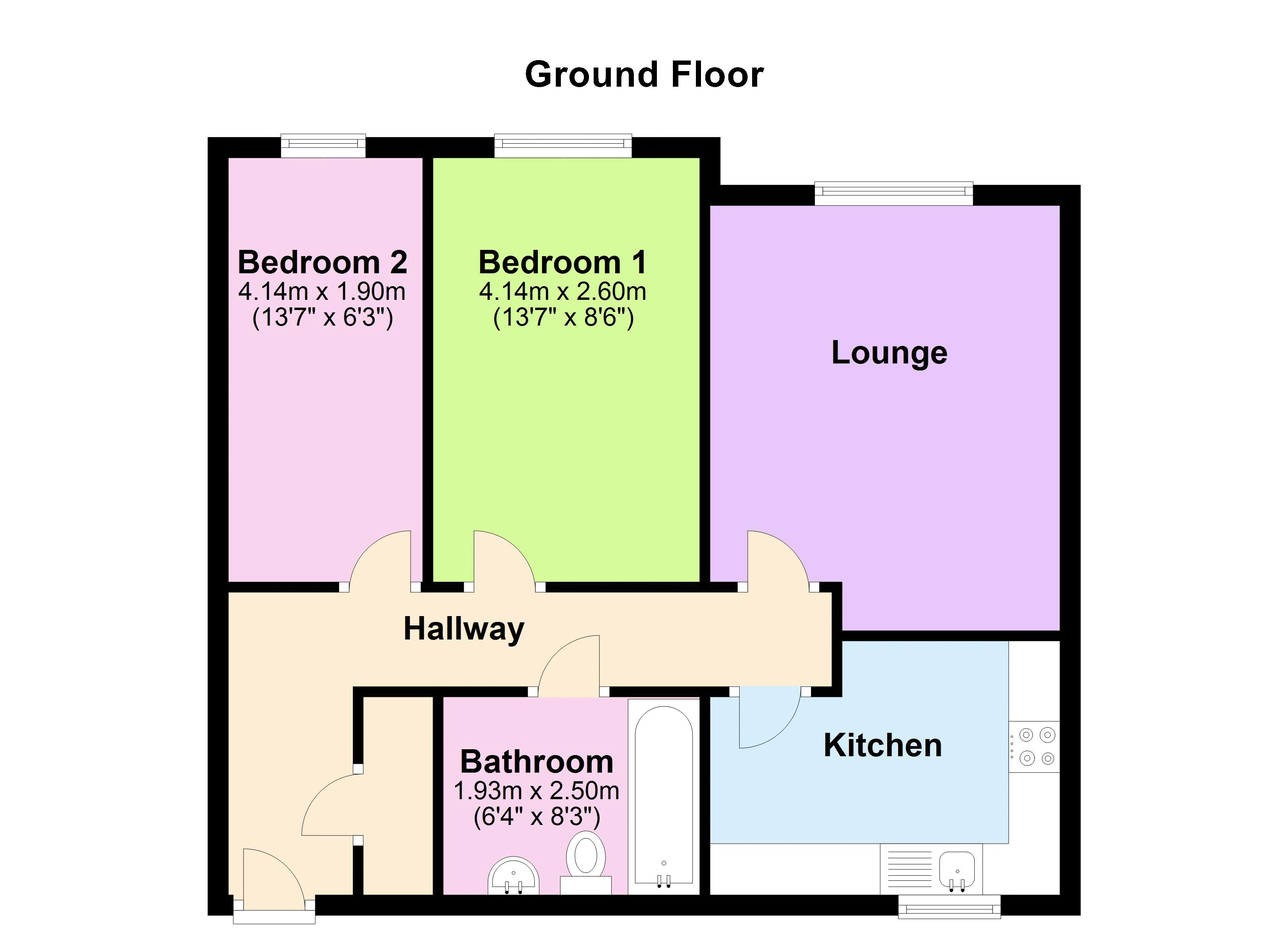 2 bed flat for sale in Apsley Road - Property Floorplan