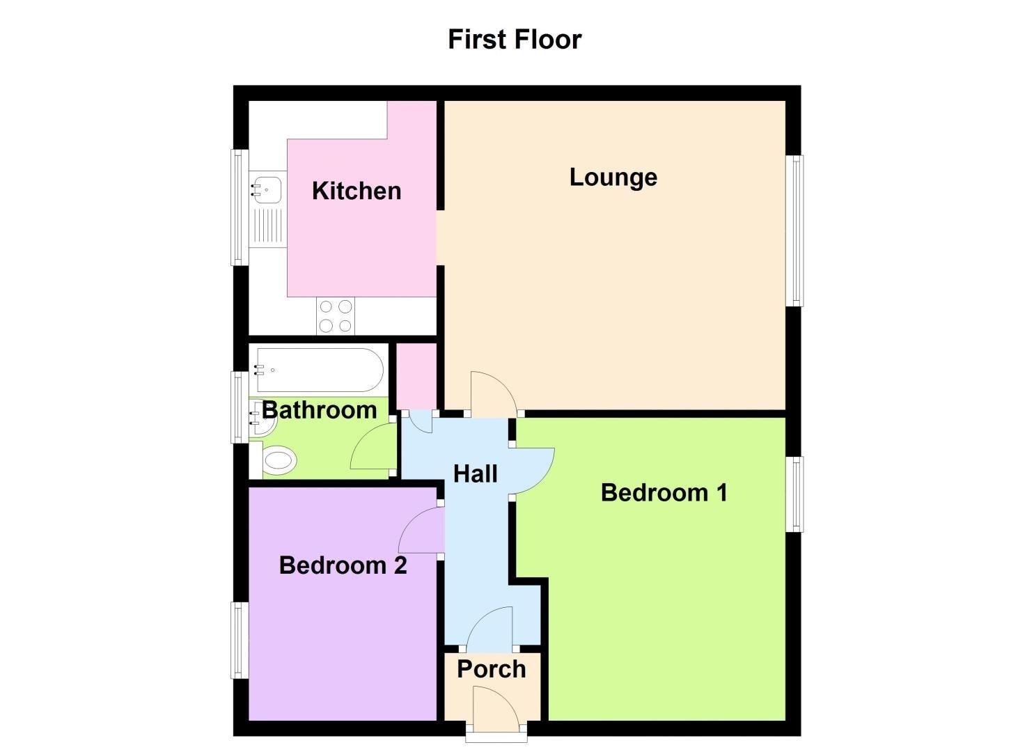 2 bed flat to rent in Clent Way - Property Floorplan