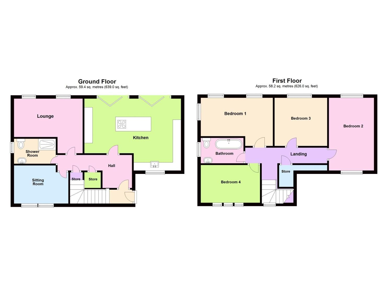 4 bed house for sale in Shire Close - Property Floorplan