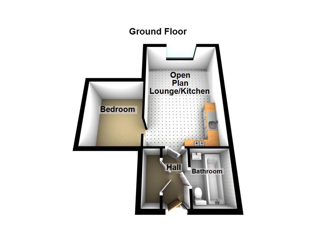 1 bed flat to rent in Crocketts Lane - Property Floorplan