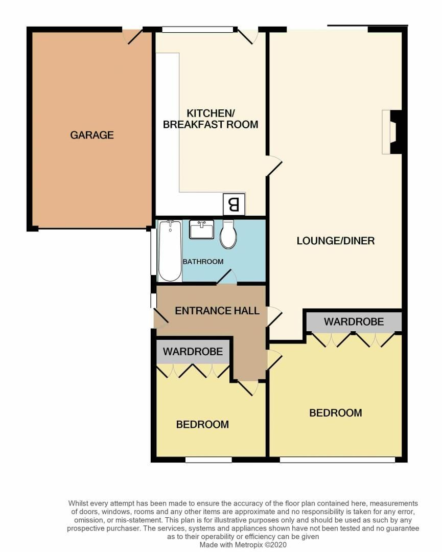 2 bed bungalow for sale in Middlefield Avenue - Property Floorplan