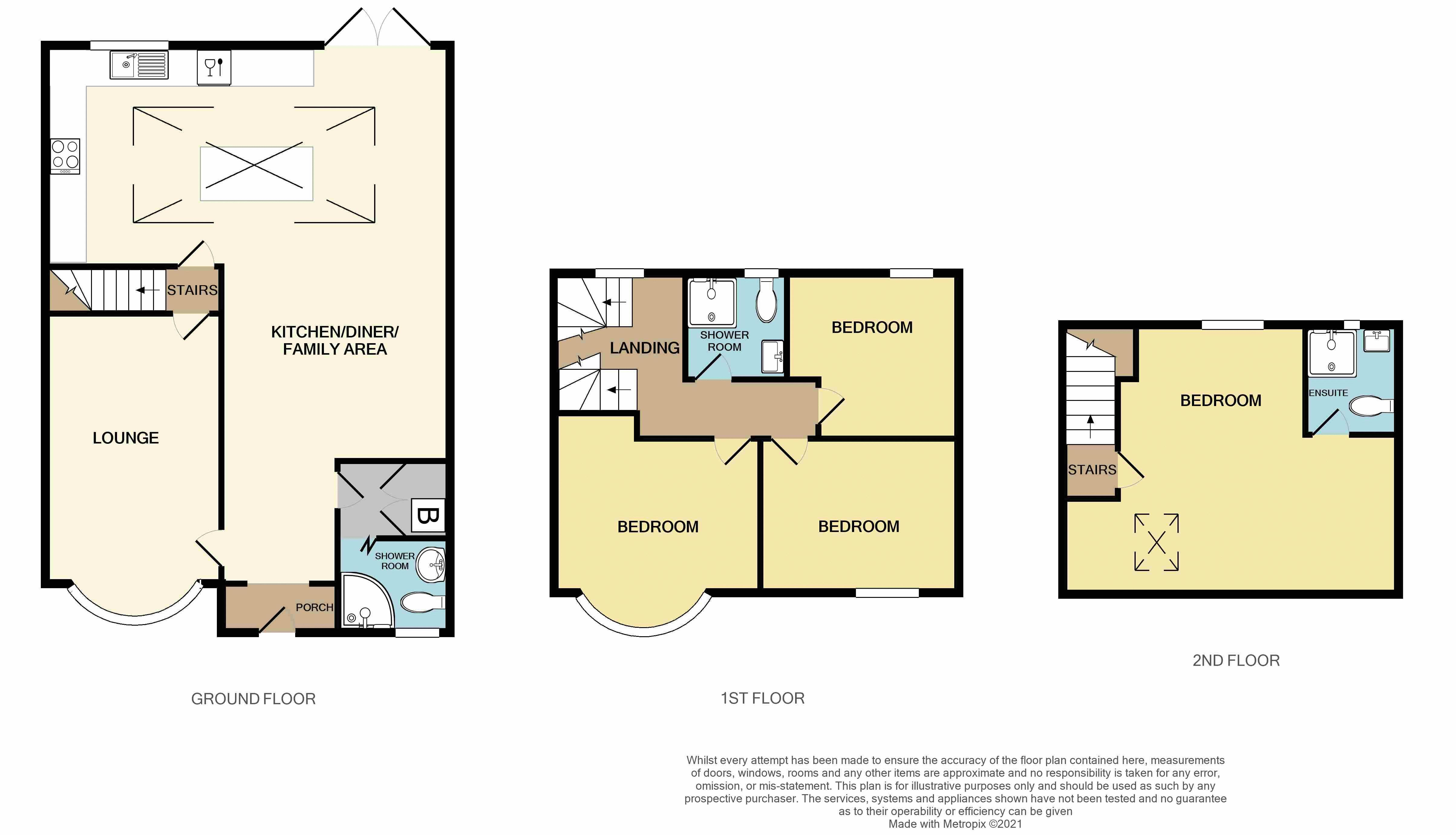 4 bed house for sale in Broadway - Property Floorplan