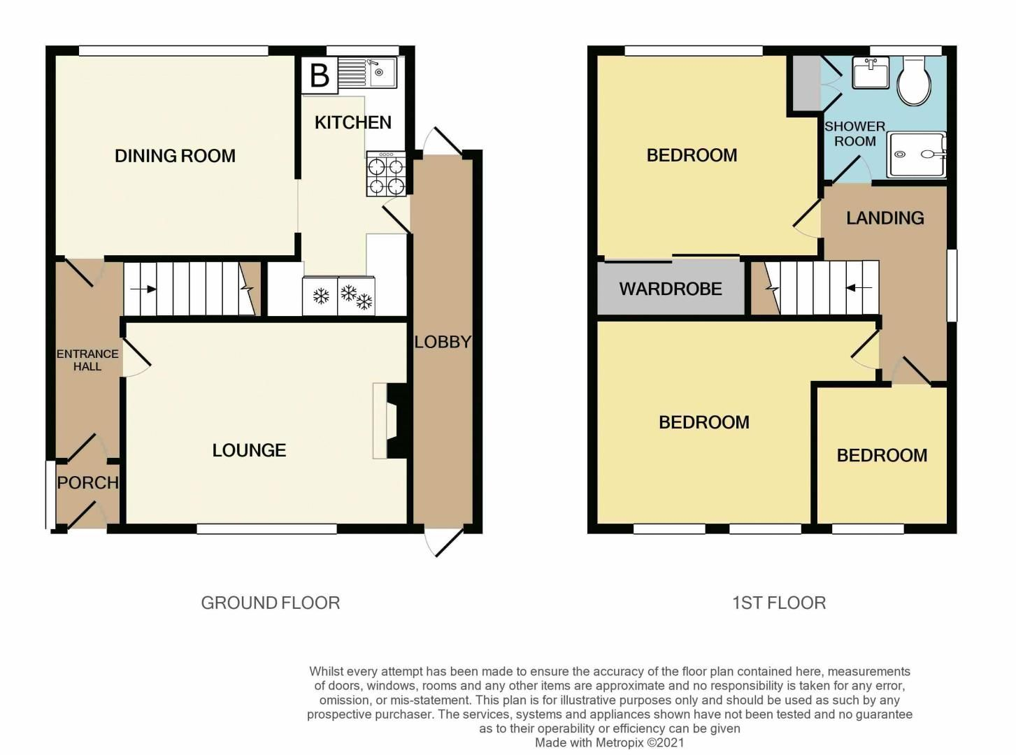 3 bed house for sale in Lunt Grove - Property Floorplan