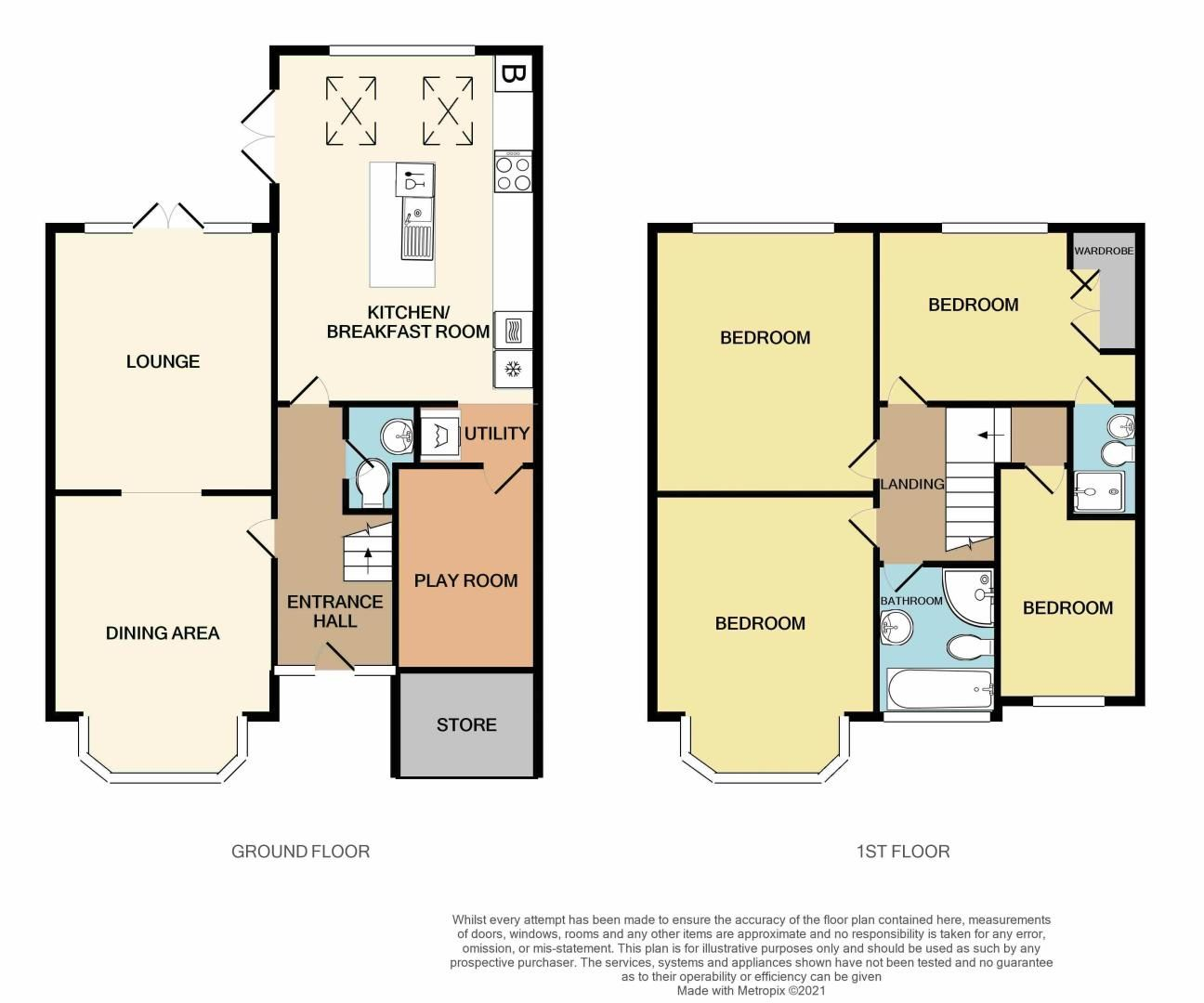 4 bed house for sale in Clydesdale Road - Property Floorplan