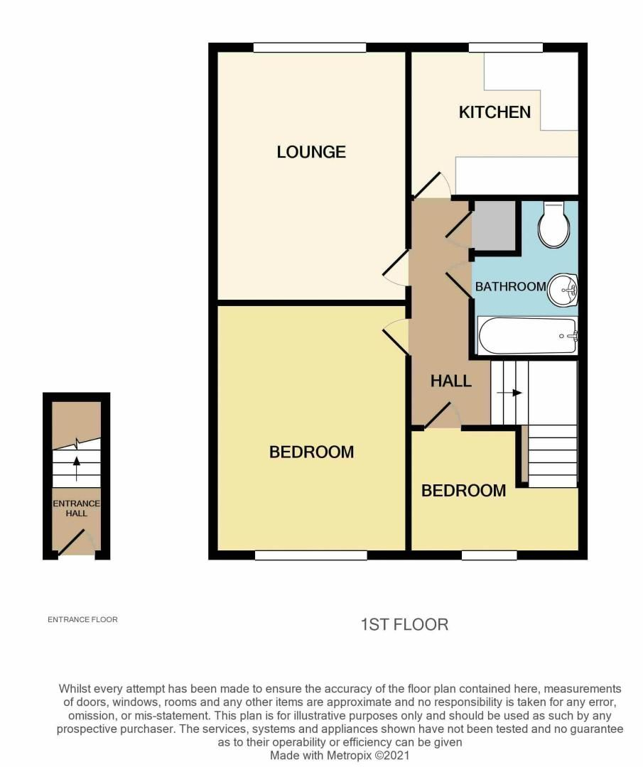 2 bed flat for sale in Warwick Close - Property Floorplan