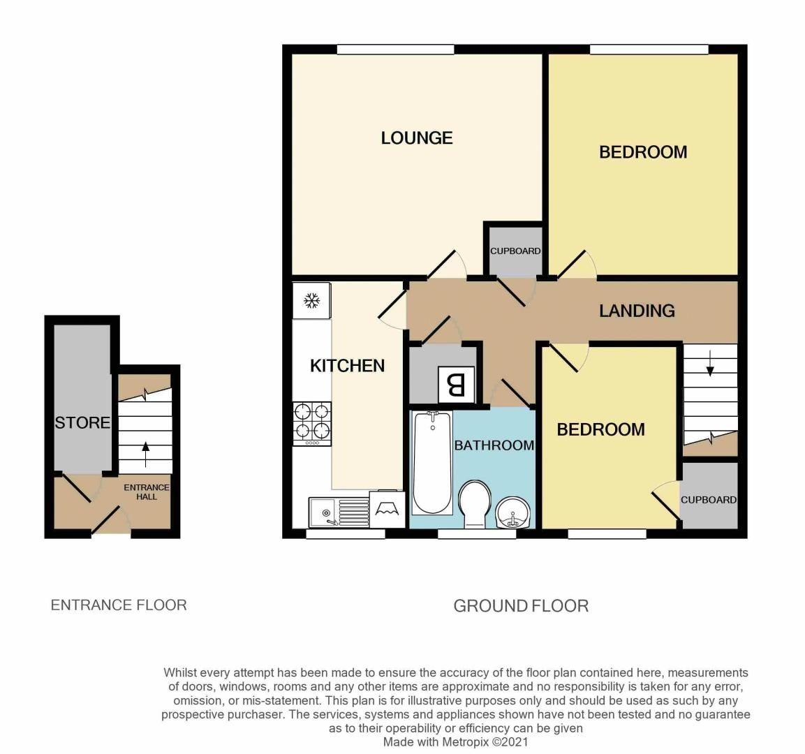 2 bed flat for sale in Roslyn Close - Property Floorplan