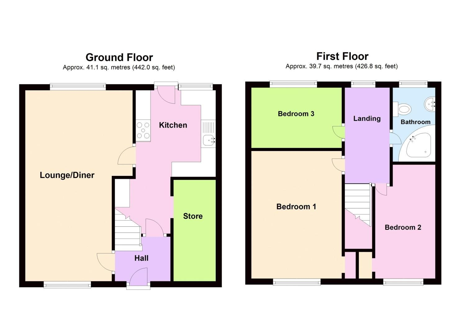 3 bed house for sale in Edison Grove - Property Floorplan