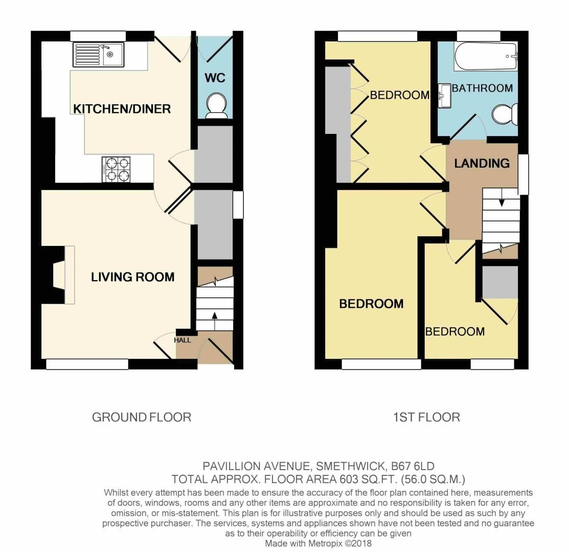 3 bed house for sale in Pavilion Avenue - Property Floorplan
