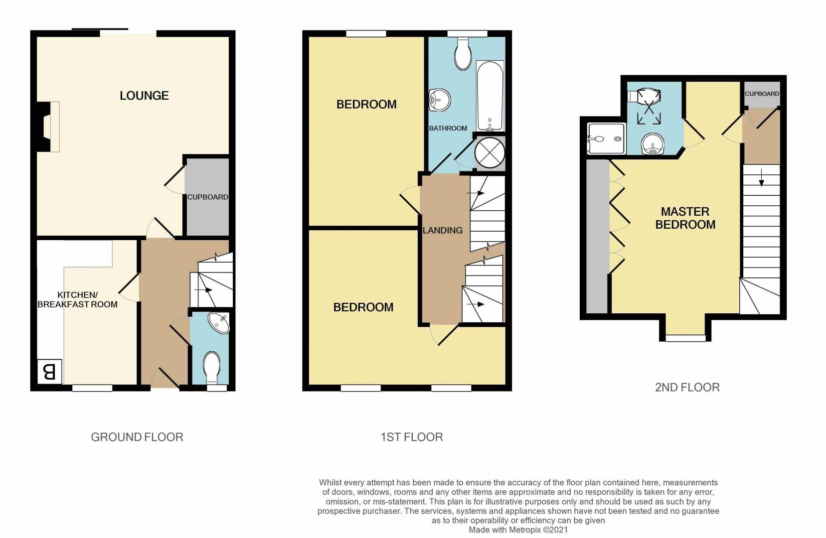 3 bed house for sale in Princes Way - Property Floorplan