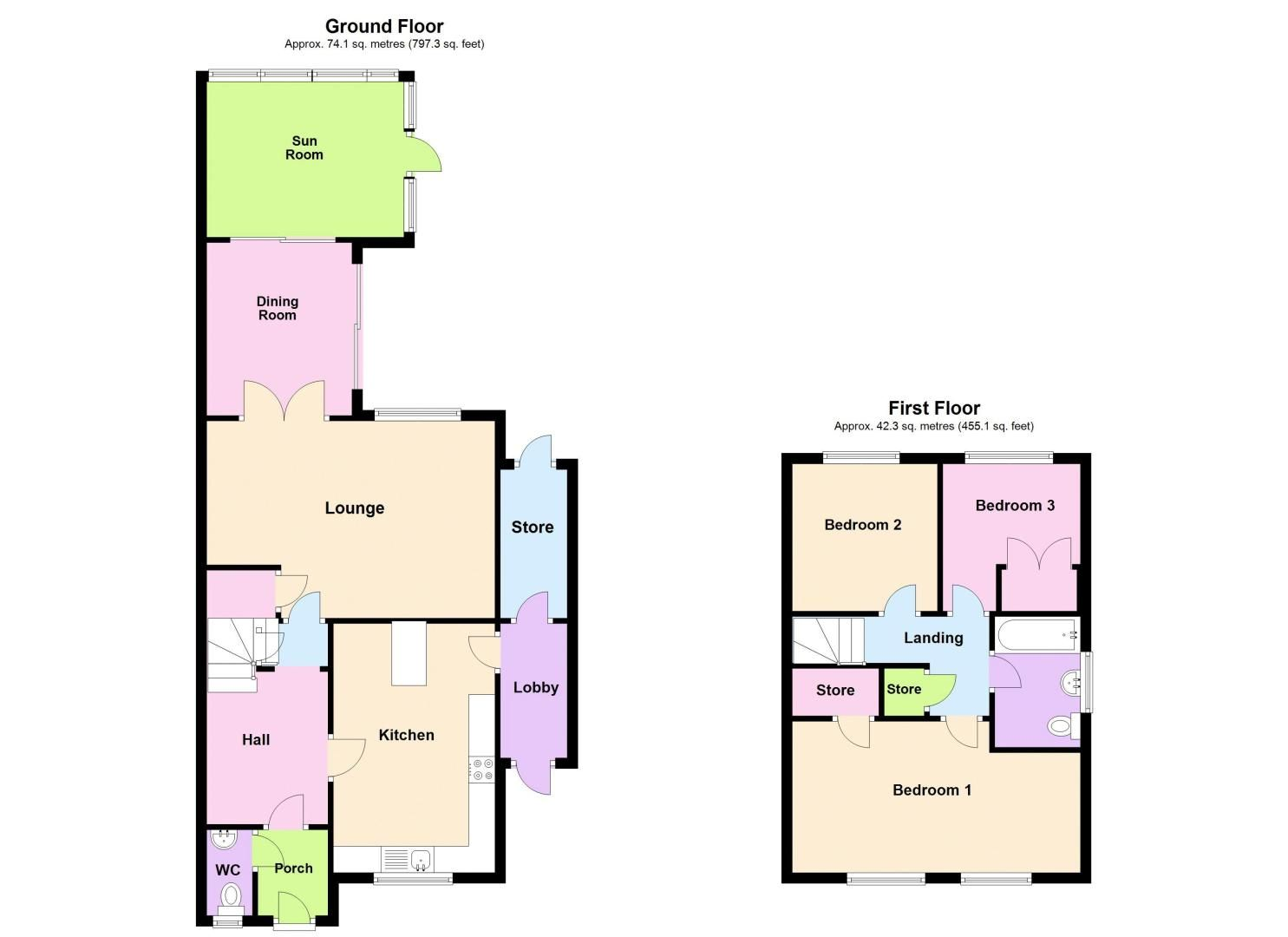 3 bed house for sale in George Road - Property Floorplan