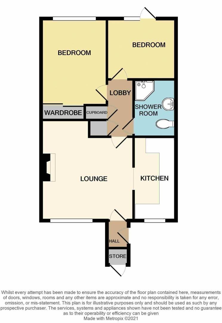 2 bed bungalow for sale in Harden Keep, Millpool Way - Property Floorplan