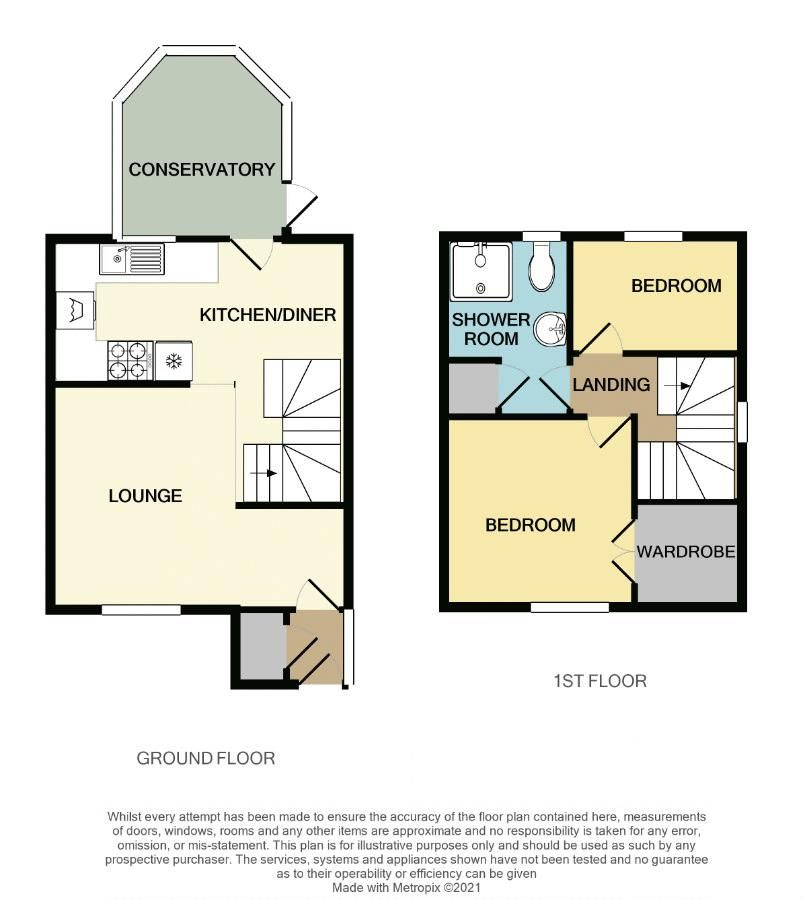 2 bed house to rent in Blakemore Close - Property Floorplan