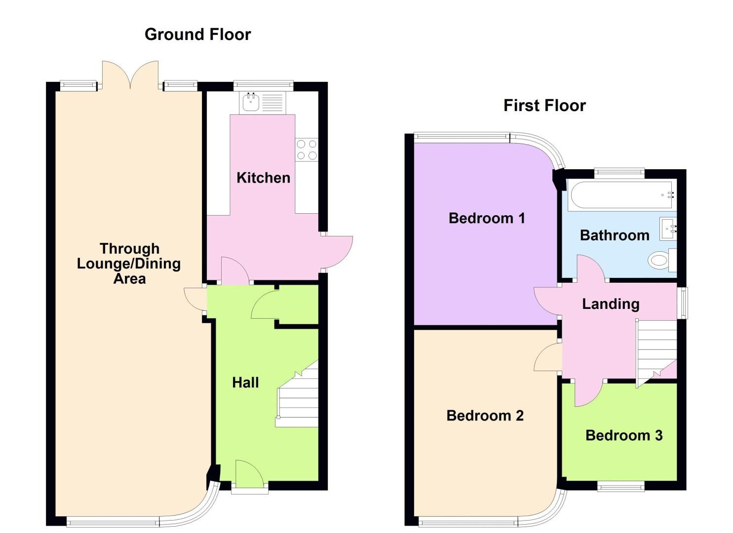 3 bed house for sale in Max Road - Property Floorplan